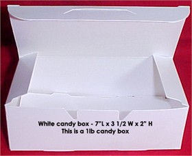 1lb White Empty Candy Box 25 Count