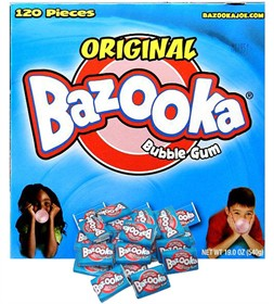 Bazooka Bubble Gum Original 120 Pieces With Comic
