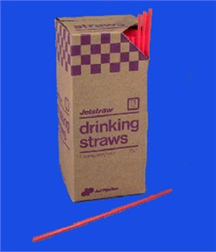 "Bar Stir Straws 7 3/4"" Red Unwrapped"