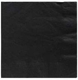 Black  Beverage Napkins 3 Ply - 50 Count