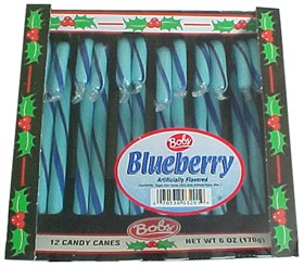 Blueberry Candy Canes 12ct -  Bob's Candy Canes