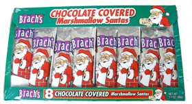 Brach's Chocolate Covered Marshmallow Santa's 8ct