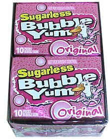 Bubble Yum Sugarless Gum Original Bubble Gum Flavor 12ct