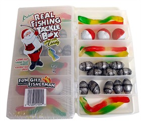 Fishing Tackle Box Filled With Fishing Candy