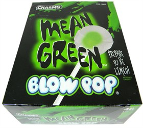 Charms Blow Pop Lollipops - Mean Green 48 Count