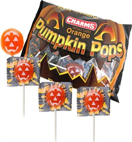 Charms Pumpkin Lollipops 20 Ct Bag