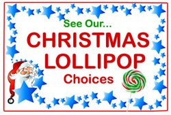 Christmas Lollipop Choices