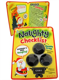 Chocolate Candy Coal With Naughty Checklist