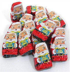 Mini Chocolate Santa's Crisp Kringles 24oz