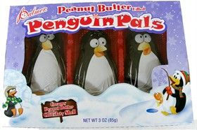 Chocolate Peanut Butter Filled Penguins 3pk