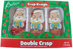 Chocolate Santa's Crisp Kringle 3pk Double Crisp