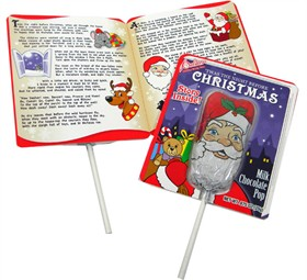 Chocolate Santa Lollipop With Story Card
