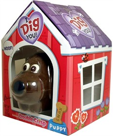 Hollow Chocolate Dog 4oz in Doghouse