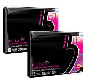Five (5) Gum Beta Berry 10pk