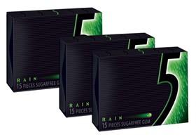 Five (5) Gum Sugar Free 10ct - Rain