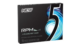 Five (5) Gum RPM Mint 10 CT