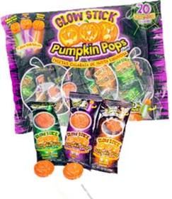 Glow Stick Pumpkin Lollipops 20ct