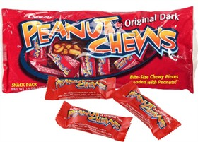 Goldenberg's Peanut Chews Original Dark -Snack Size 12oz Bag