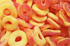 Gummy Peach Rings 5lb Trolly Brand