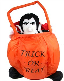 Halloween Treat Soft Basket Dracula Large - Light Up