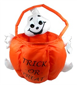 Halloween Soft Treat Basket Ghost Large