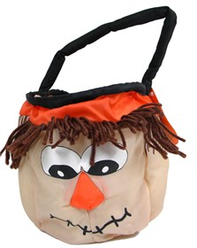 Halloween Soft Treat Basket Scarecrow Small