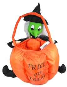 Halloween Soft Treat Basket Witch Large