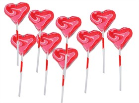 Heart Shaped Swirly Lollipops 24 Count