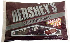 Hershey's Milk Chocolate Snack Size Candy Bars 10.78oz Bag (21ct)