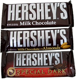 Hershey's Candy Bar 36 Count Box (Pick- Plain, Almond or Dark)