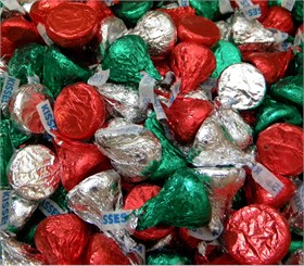Hershey's Kisses Holiday 25lb Red & Green