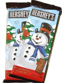 Hershey's Holiday Design Bar Snowman Milk Chocolate 3.5oz