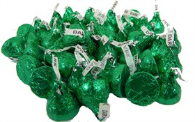 Hershey's Kisses DARK Chocolate Green 24oz