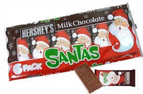 Hershey's Milk Chocolate Santa's 6pk