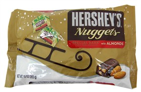 Hershey's Dark Chocolate Christmas Nuggets With Almonds