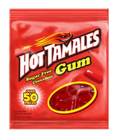 Hot Tamales Sugar Free Gum 3oz Bag
