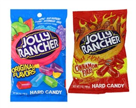 Jolly Rancher Peg Bags - Original; Doubles; and Cinnamon Fire