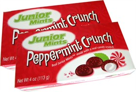 Junior Mints Peppermint Crunch  3.5oz Christmas Candy