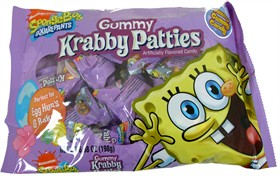 Sponge Bob Krabby Patties Gummi Burgers 20ct