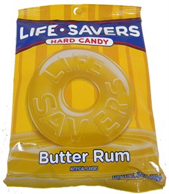 Life Savers Singles 6.25oz Bag Butter Rum
