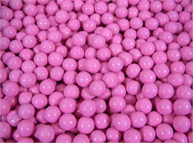 Pink Mini Chocolate Balls 2 1/2 lb Sixlets