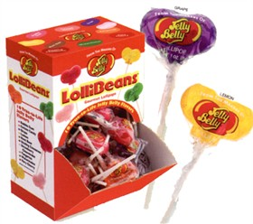 Lollibeans Jelly Belly Lollipops 48ct