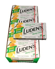 Ludens Cough Drops 20ct - Honey/Lemon