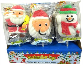 Marshmallow Christmas Lollipops 12ct