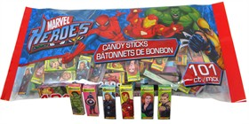 Marvel Hero's Candy Sticks 101ct Bag