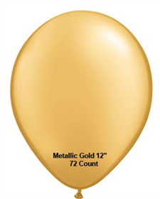 "Metallic Gold Latex Balloons 12"" 72 Count Bag"