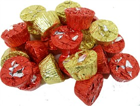 Peanut Butter Cups Snack Size Red & Gold Foil  24oz