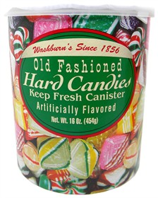 Old Fashioned HARD Candy 16oz Can Washburn's (green)