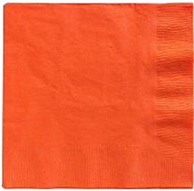 Orange Beverage Napkins 3 Ply - 50 Count