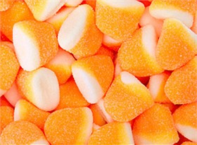 Pufflettes Orange & White Orange Gummy Bites 5lb